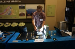 Diggin' RVA: Bernard Means (Virtual Curation Laboratory, Virginia Commonwealth University) demonstrates 3D scanning